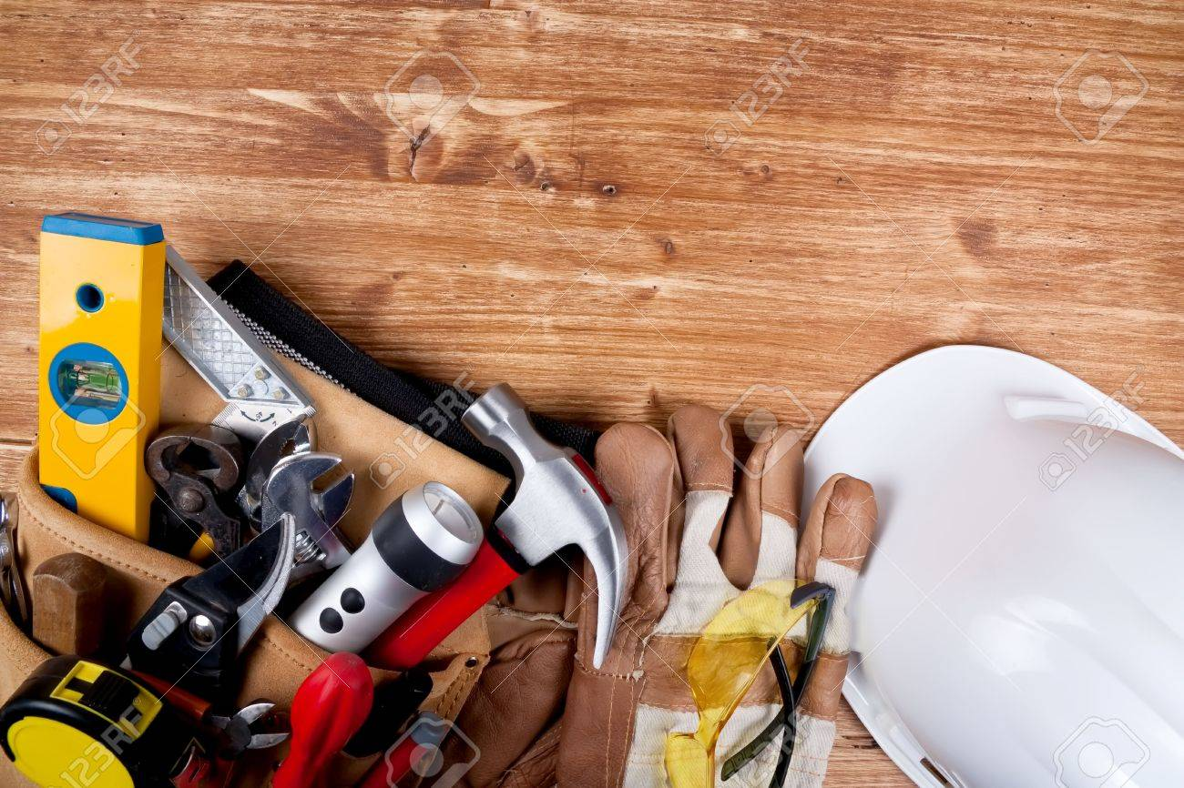 Copy space Working Tool On wood background Stock Photo - 6791048