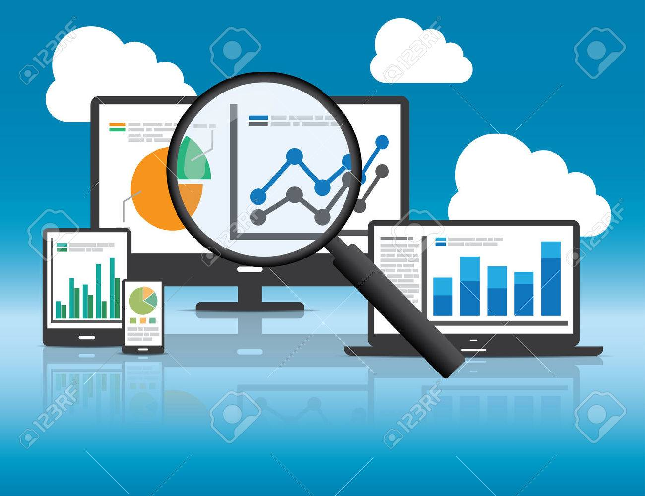 Website analytics and SEO data analysis concept. EPS10 file and included high resolution jpg - 34095475
