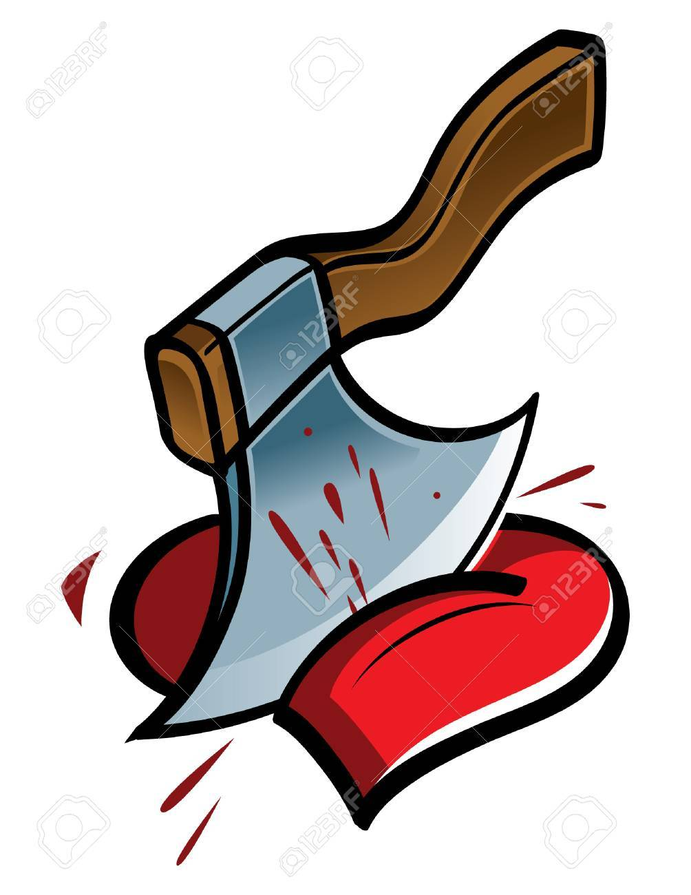 Heart and Axe Stock Vector - 6488104