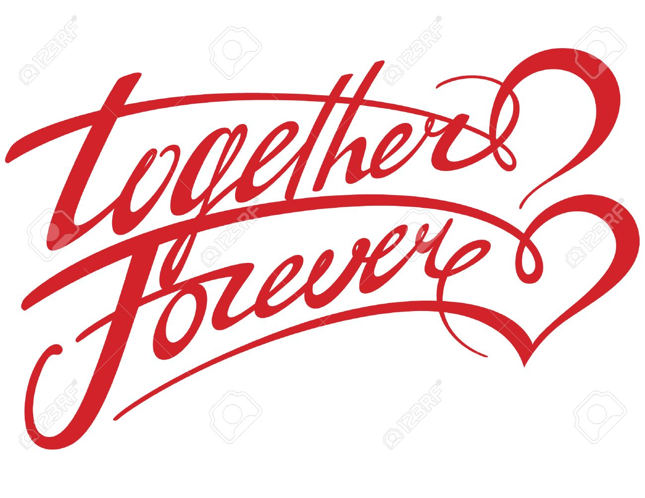 Together Forever Stock Vector - 6488108