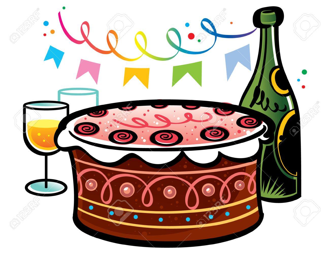 Clipart champagne anniversaire