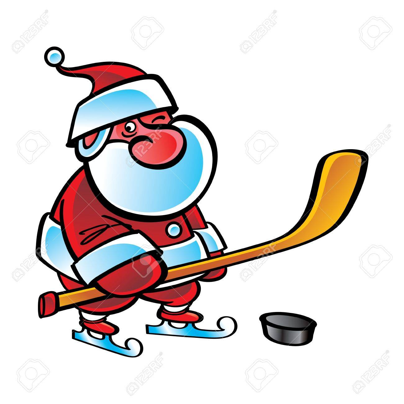 Hockey Santa Claus Sport Christmas Winter Game Royalty Free ...