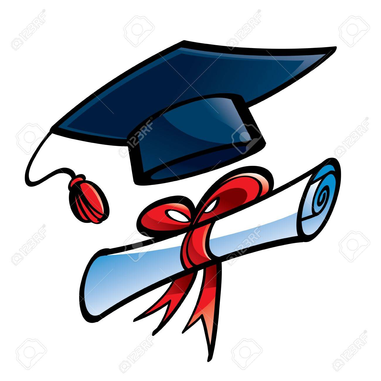 Education Graduation Cap And Diploma College Royalty Free Cliparts ... a2586c81945