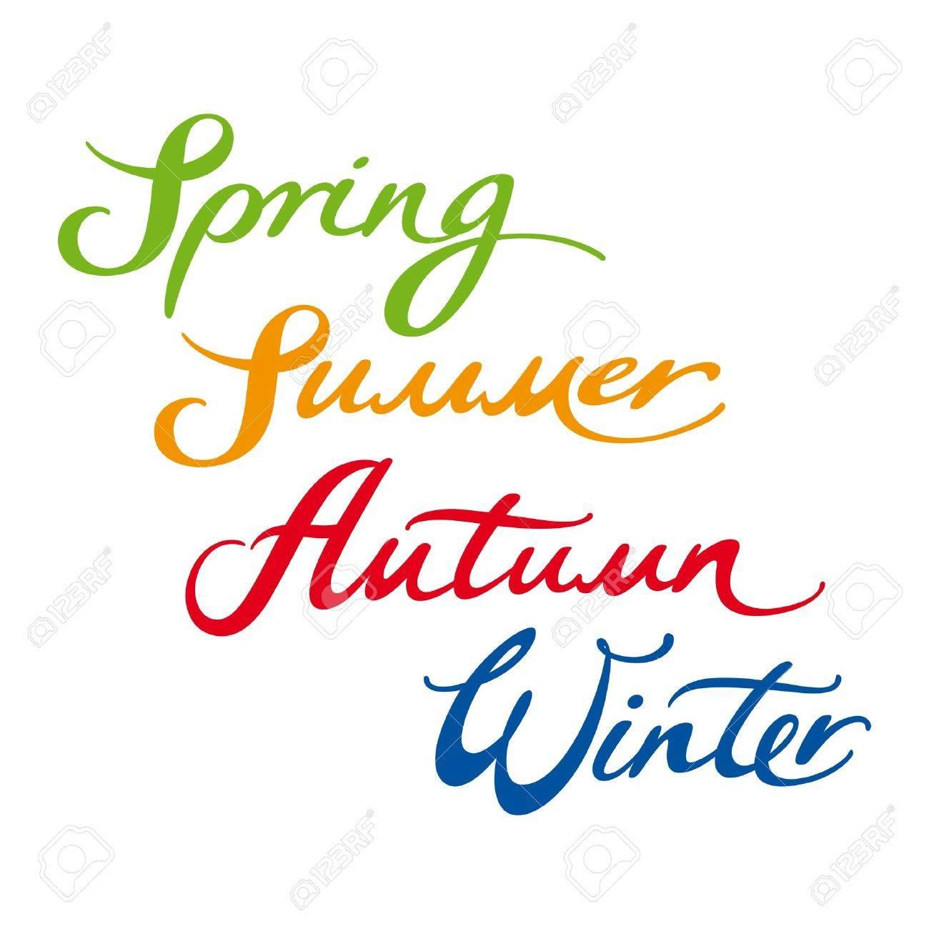 Spring Summer Autumn Winter Year Four Seasons Royalty Free ...