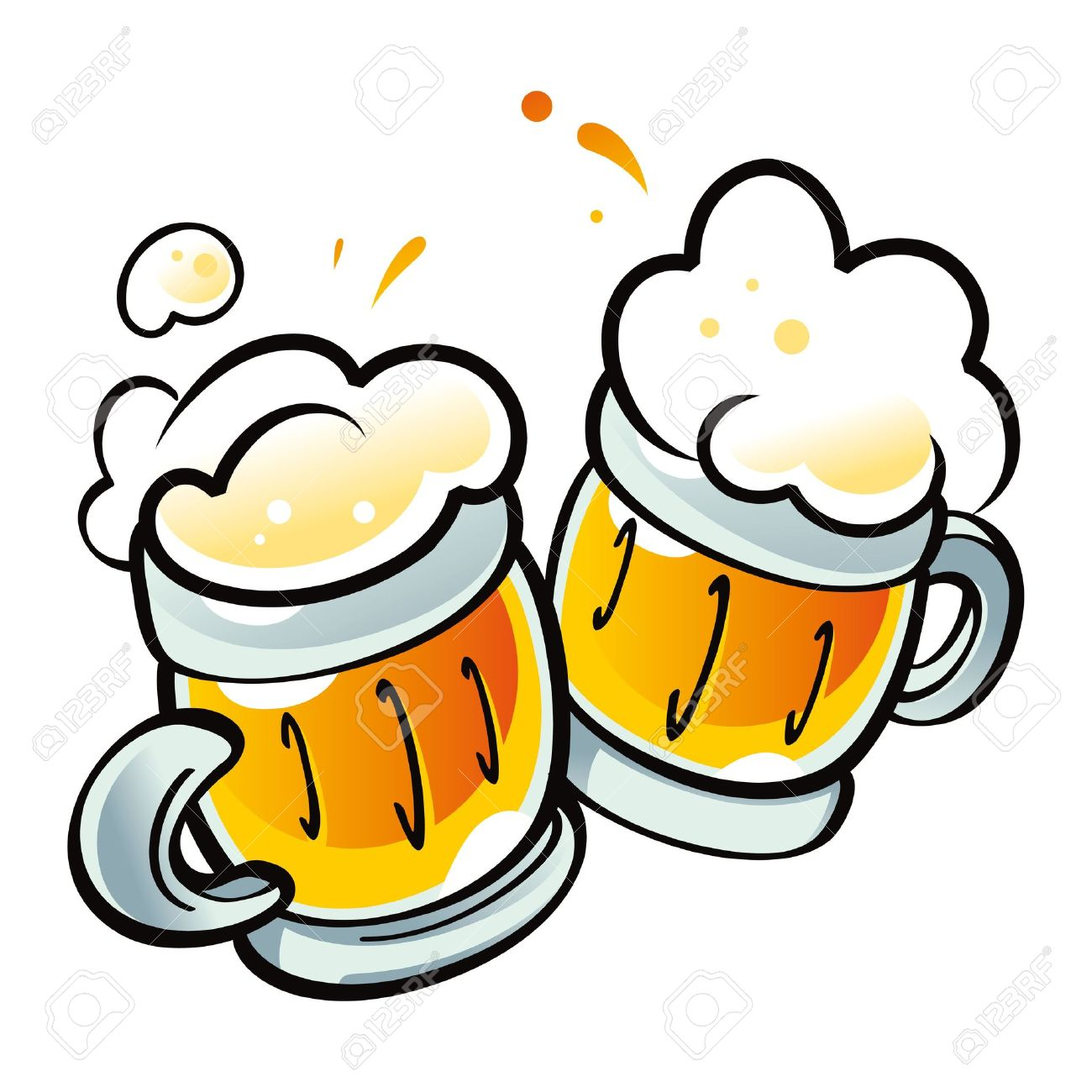 Beer Mugs drink alcohol pub party Stock Vector - 11852271