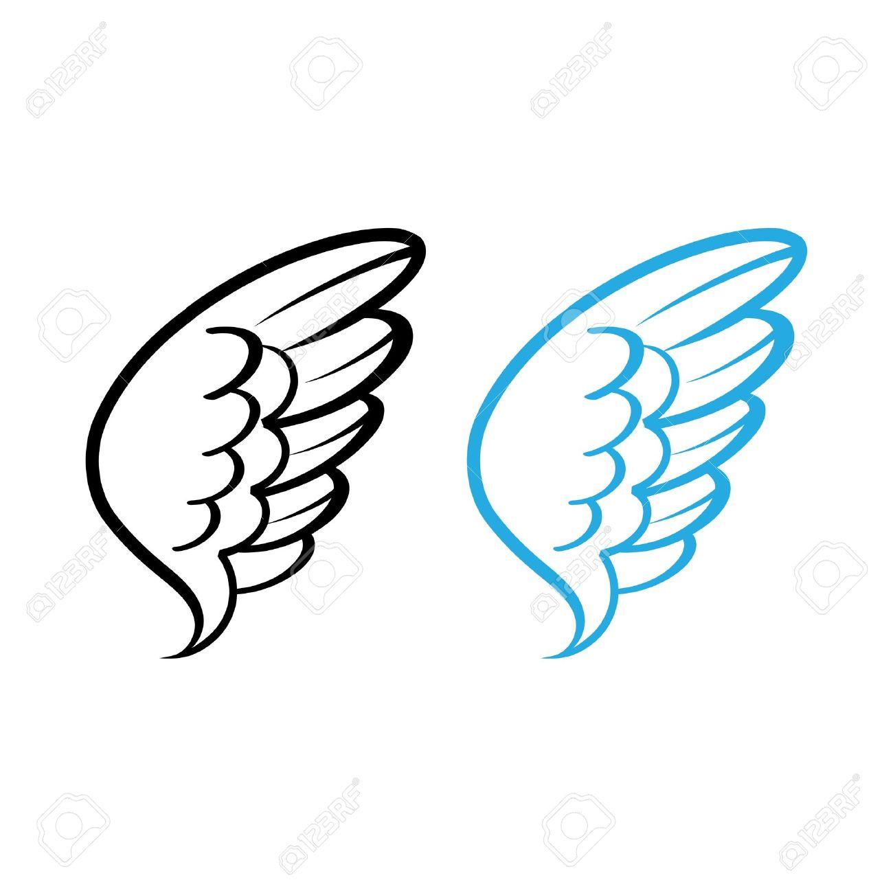 鳥の翼の白い羽のベクトル イラスト鳩白鳥天使鶏編のイラスト素材