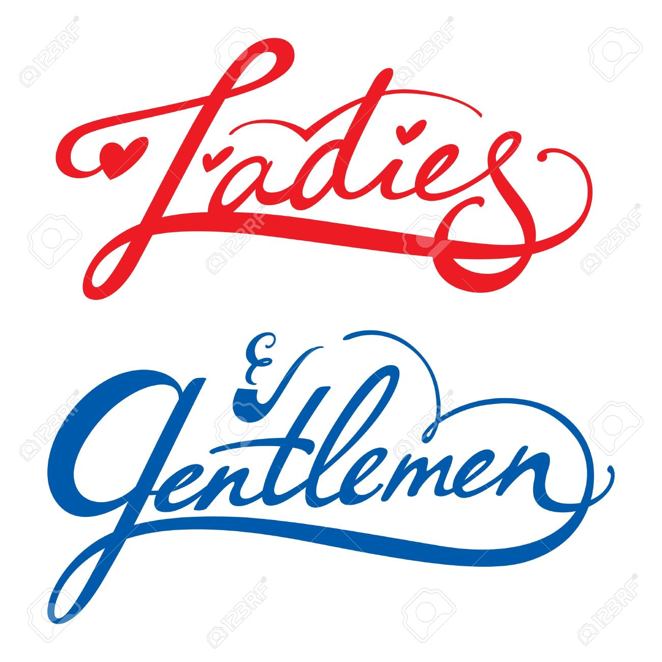 Ladies Gentlemen vector inscription man woman dressing rest room toilet Stock Vector - 11915403