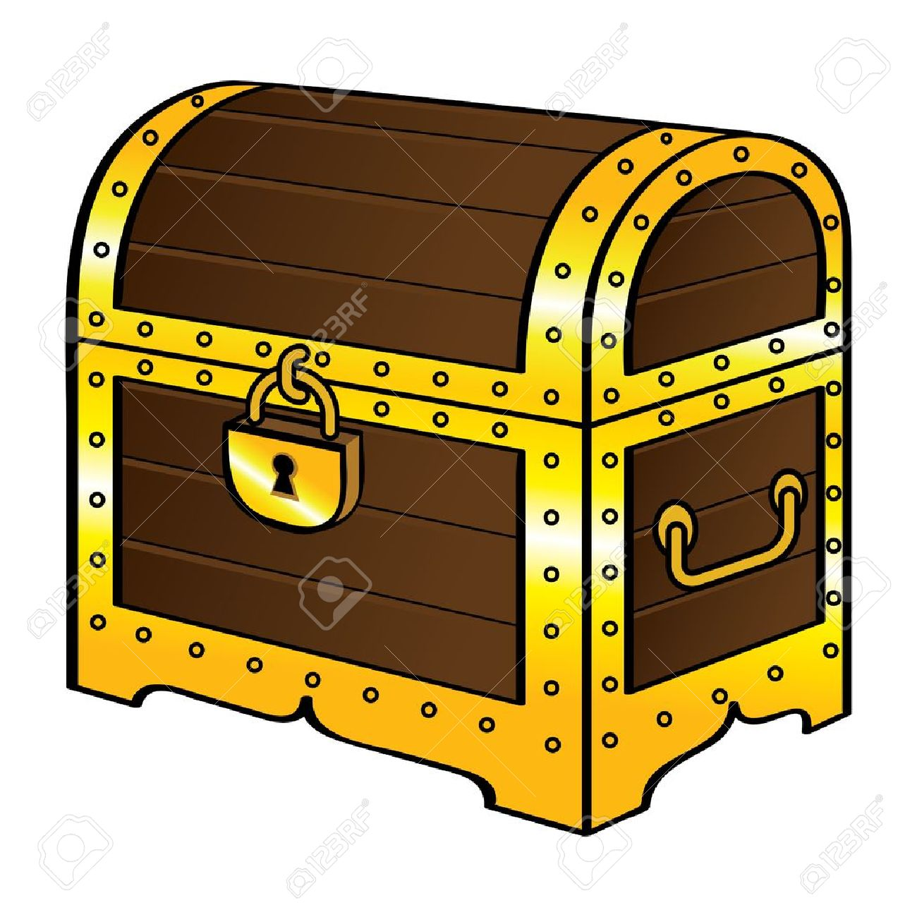 trunk chest gold treasure wood old vintage pirate lock royalty free rh 123rf com wooden treasure chest clipart free wooden treasure chest clipart free