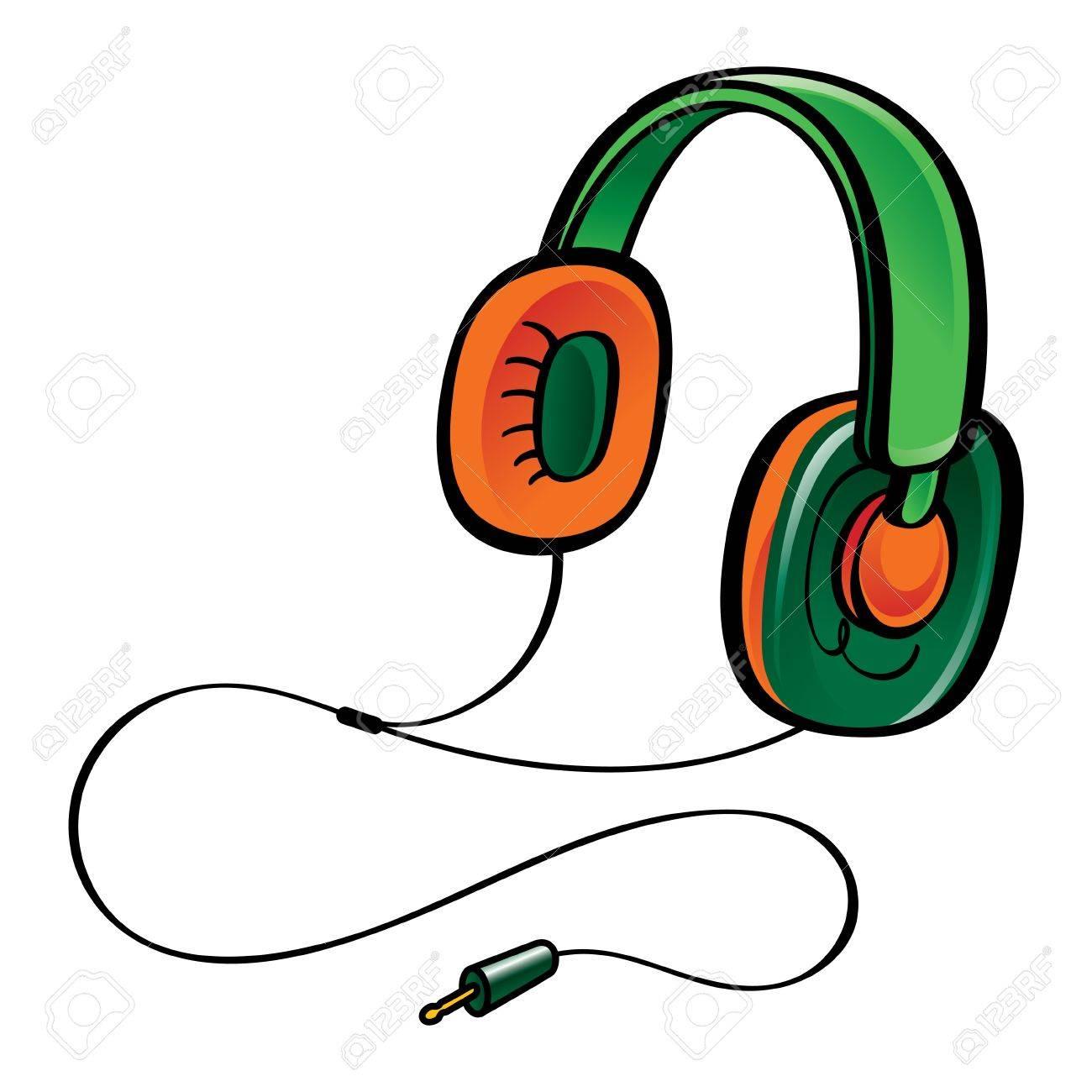 Elektronische Draht Kopfhörer Tunes Musik Und Sound Lizenzfrei ...