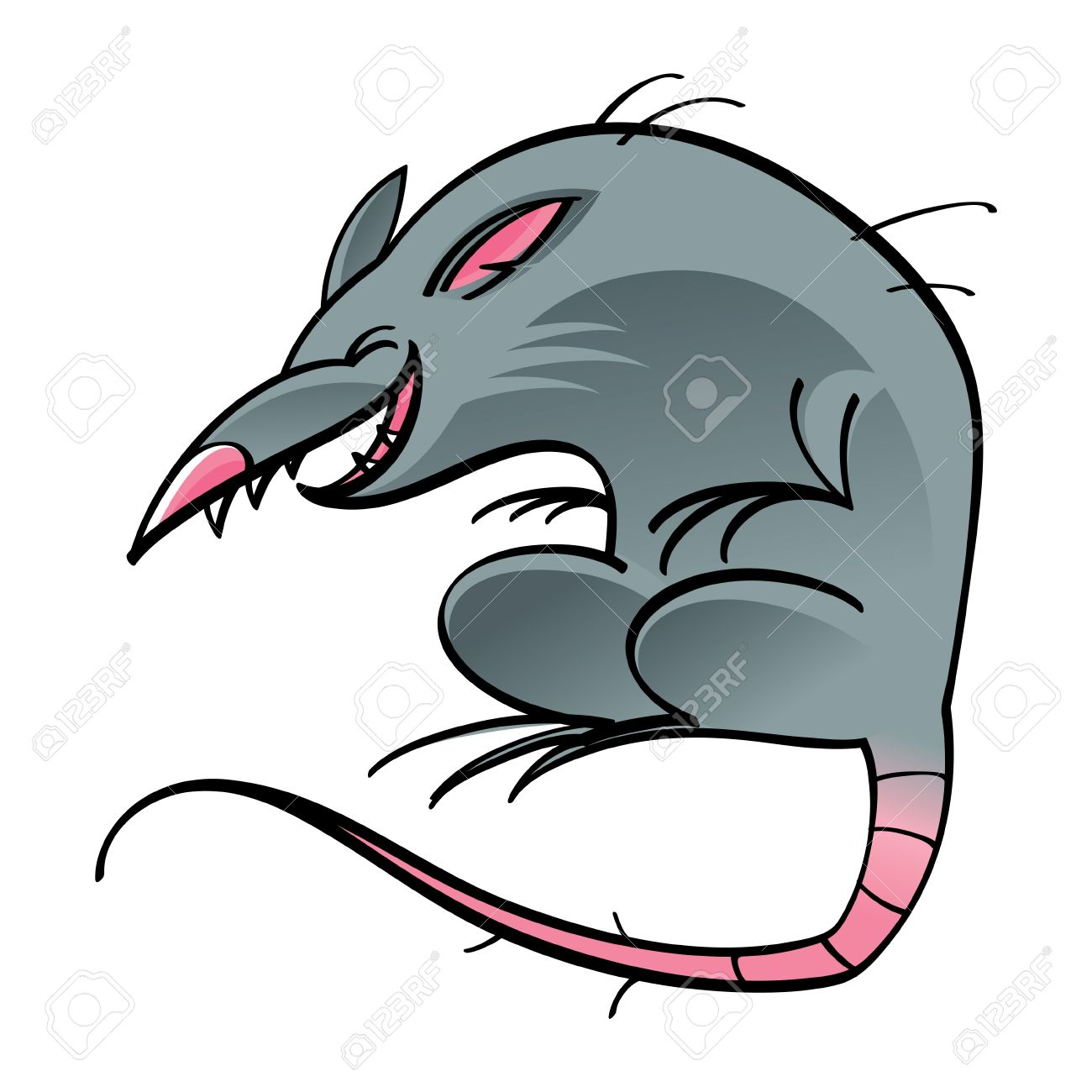 Rat Mouse Cartoon Character Gutter Street Animal Rodent Royalty ...