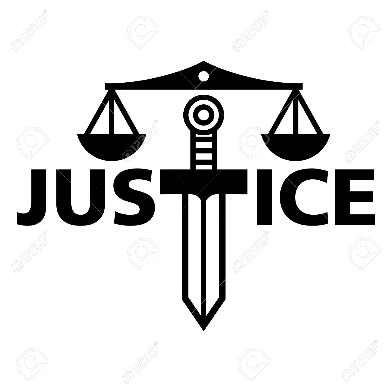Justice weight sword truth court law judge Stock Vector - 18063009