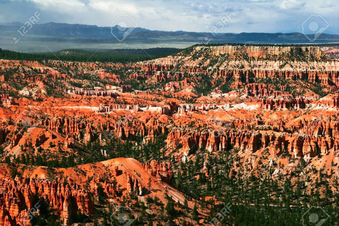 Slopes of Bryce canyon. Utah state. USA Stock Photo - 4761091
