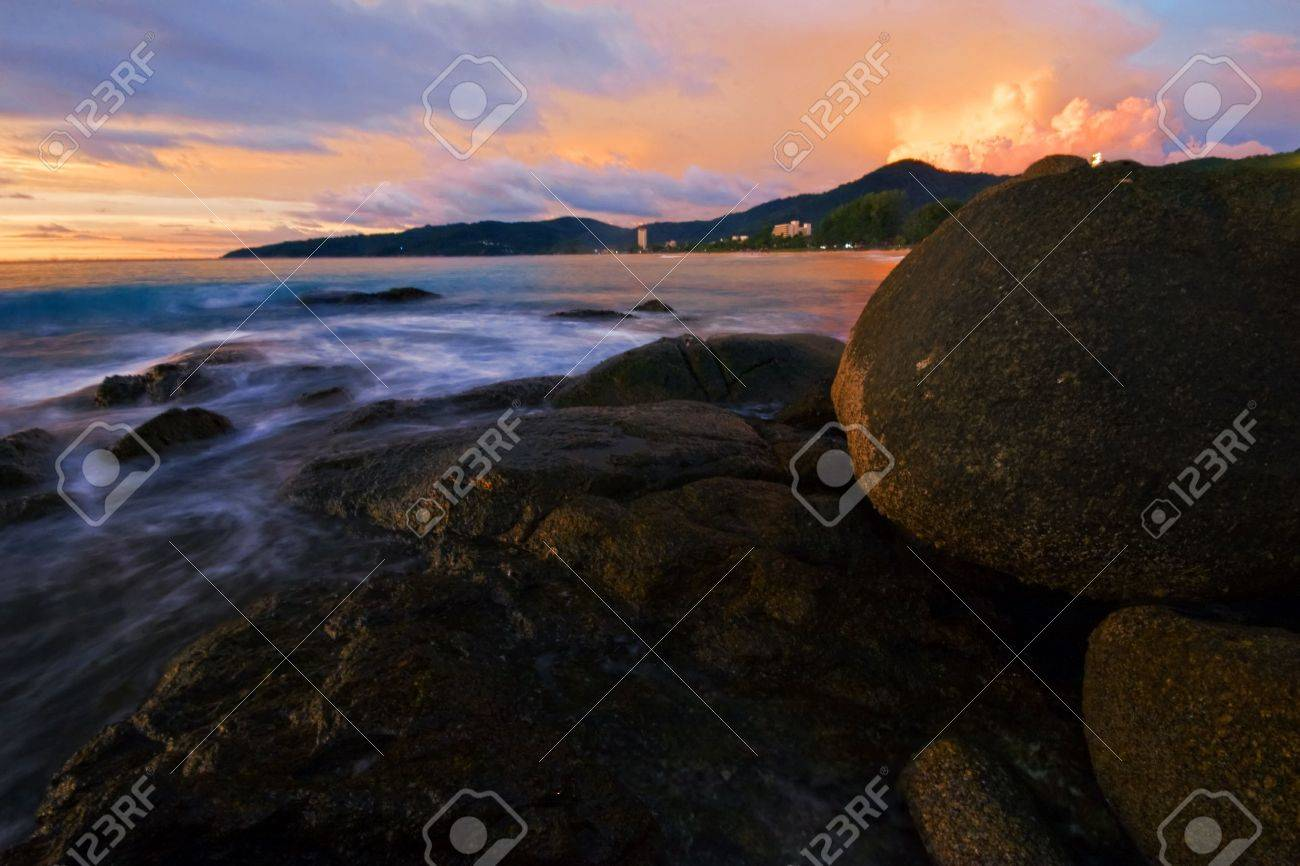 Tropical sunset in Thailand Stock Photo - 5618478