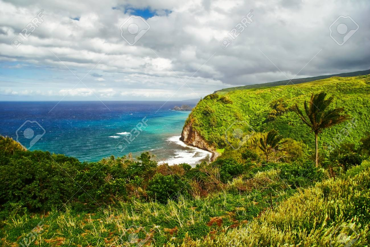 View on the ocean on Big island. Hawaii. USA Stock Photo - 6016785