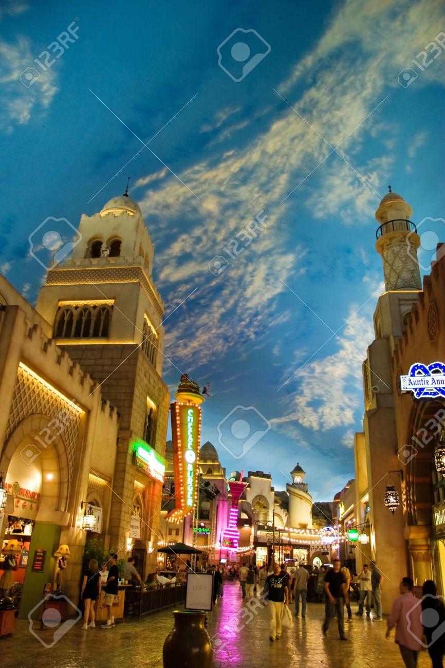 LAS VEGAS   MAY 2  Miracle Mile Shops in the Aladdin hotel stylized as Arab