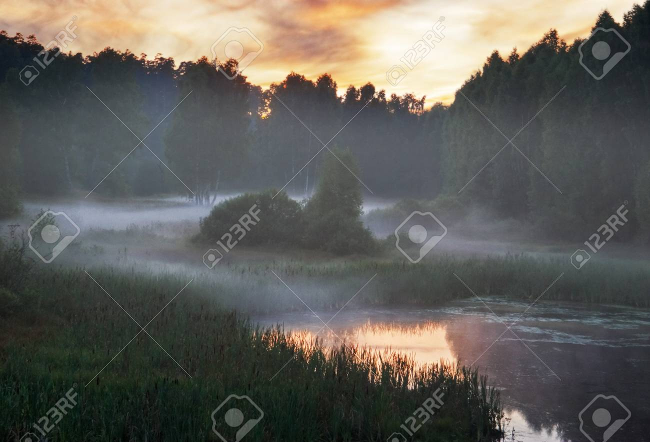 Summer sunset on the river. Stock Photo - 7619760