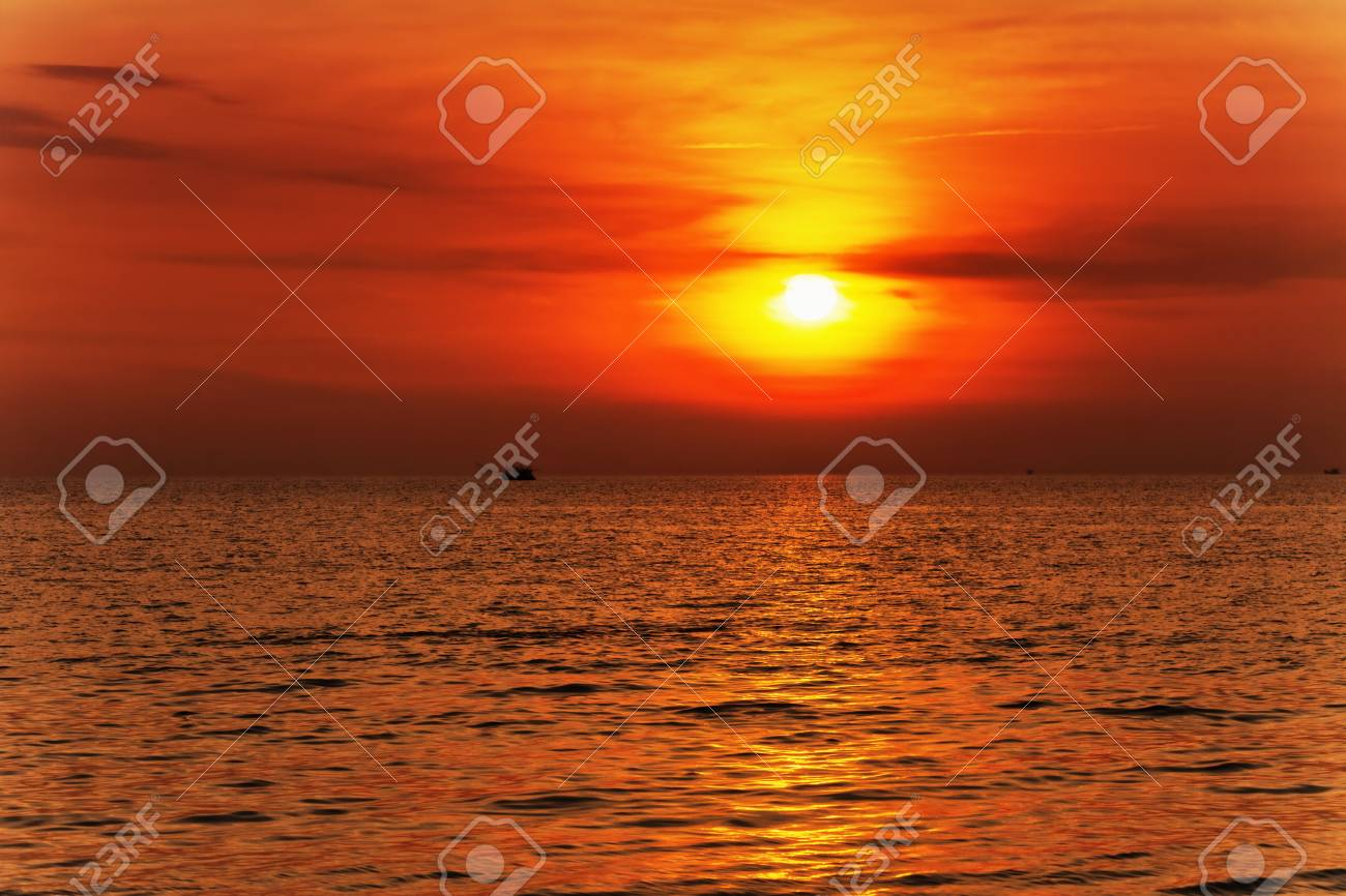 Tropical sea at beautiful sunset  Nature background Stock Photo - 15443912
