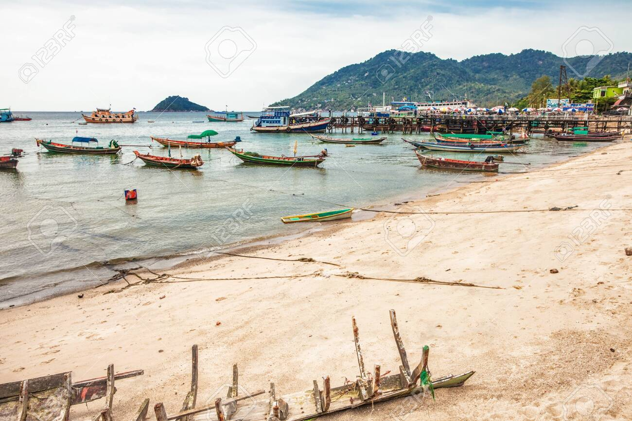 tropical beach under gloomy sky  Thailand Stock Photo - 17016369