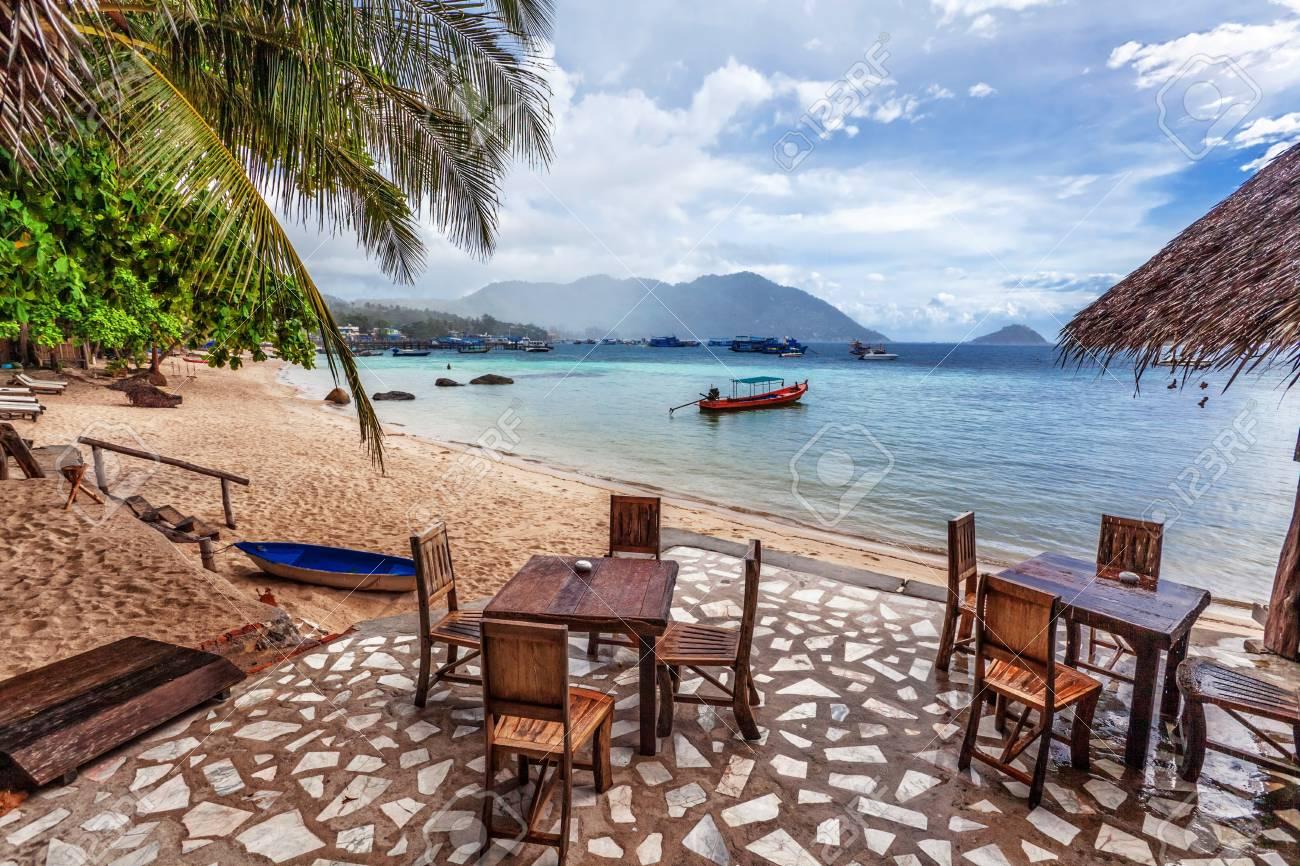 tropical beach under gloomy sky  Thailand Stock Photo - 17016724
