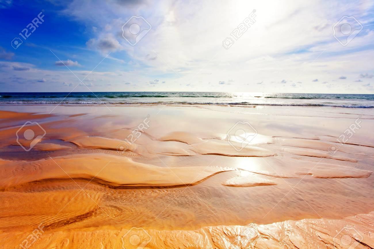 Exotic tropical beach under blue sky  Thailand Stock Photo - 17124160