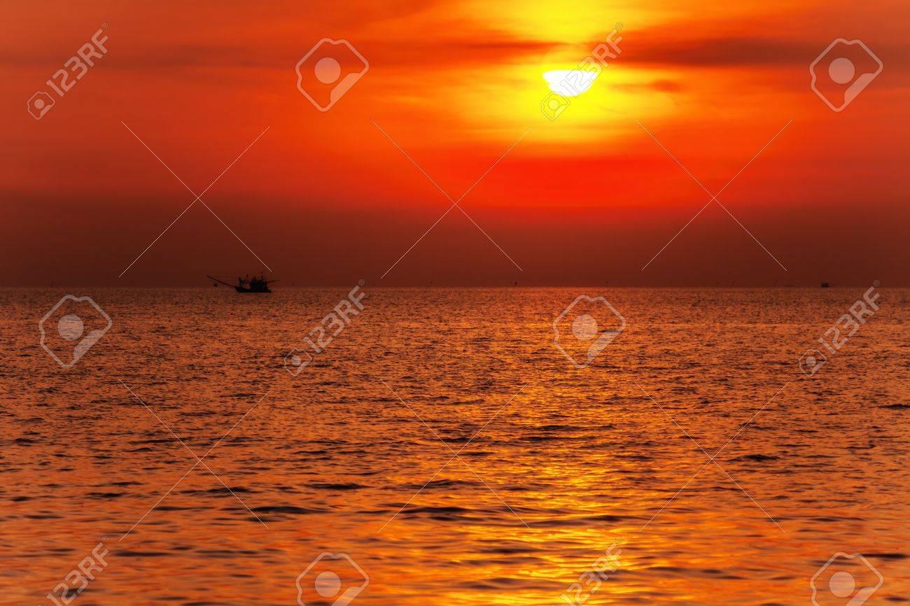 Tropical beach at beautiful sunset  Nature background Stock Photo - 17195867