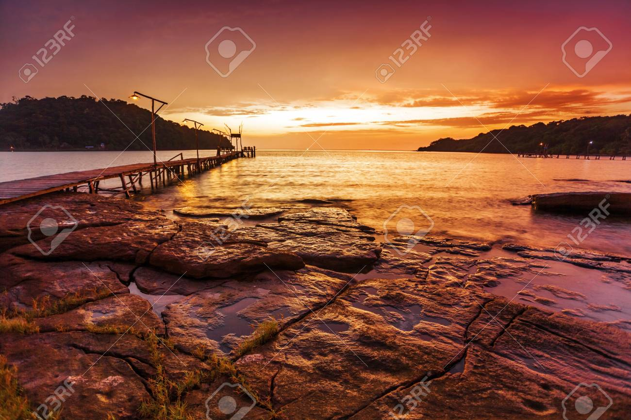 Tropical beach at beautiful sunset  Nature background Stock Photo - 17195872