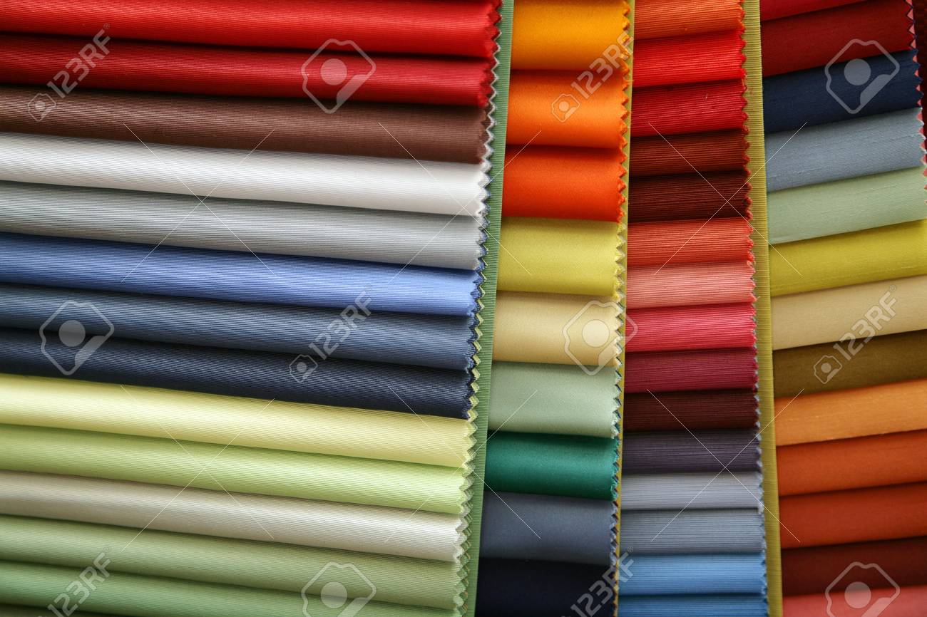 Color samples of a fabric in shop Stock Photo - 2629986