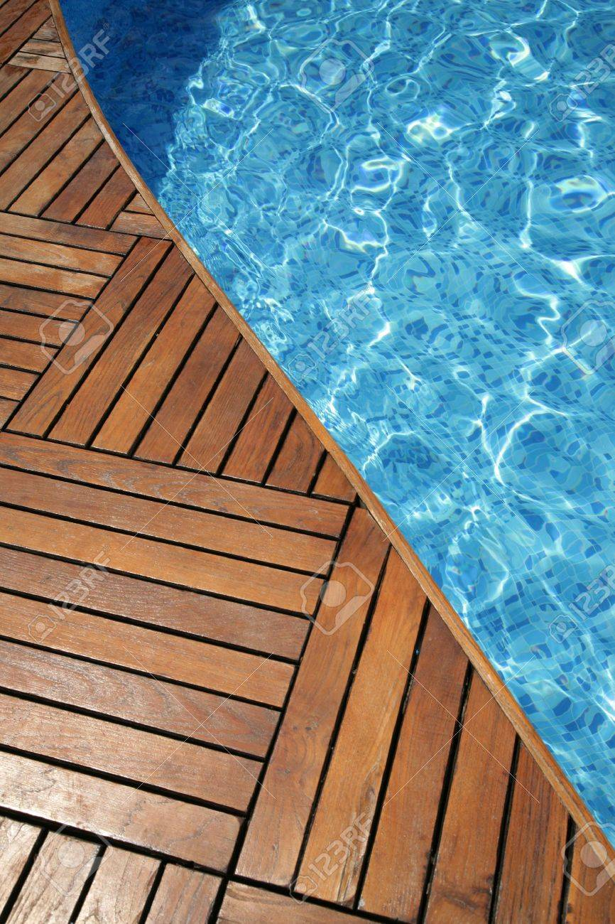 Wood Pool Deck Fragment Of A Swimming Pool And Wooden Floor Stock Photo Picture
