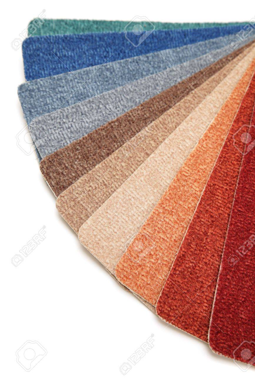 Samples of color of a carpet covering Stock Photo - 3492812