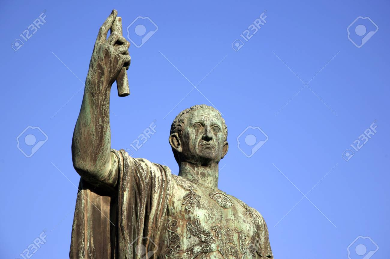 Sculpture of emperor Caesari Nervae Avg, Rome, Italy Stock Photo - 4294128