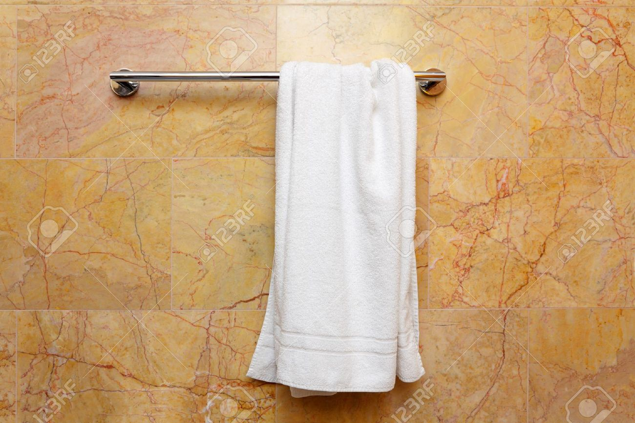 hanging towel. Clean White Towel On A Hanger Stock Photo - 10528401 Hanging