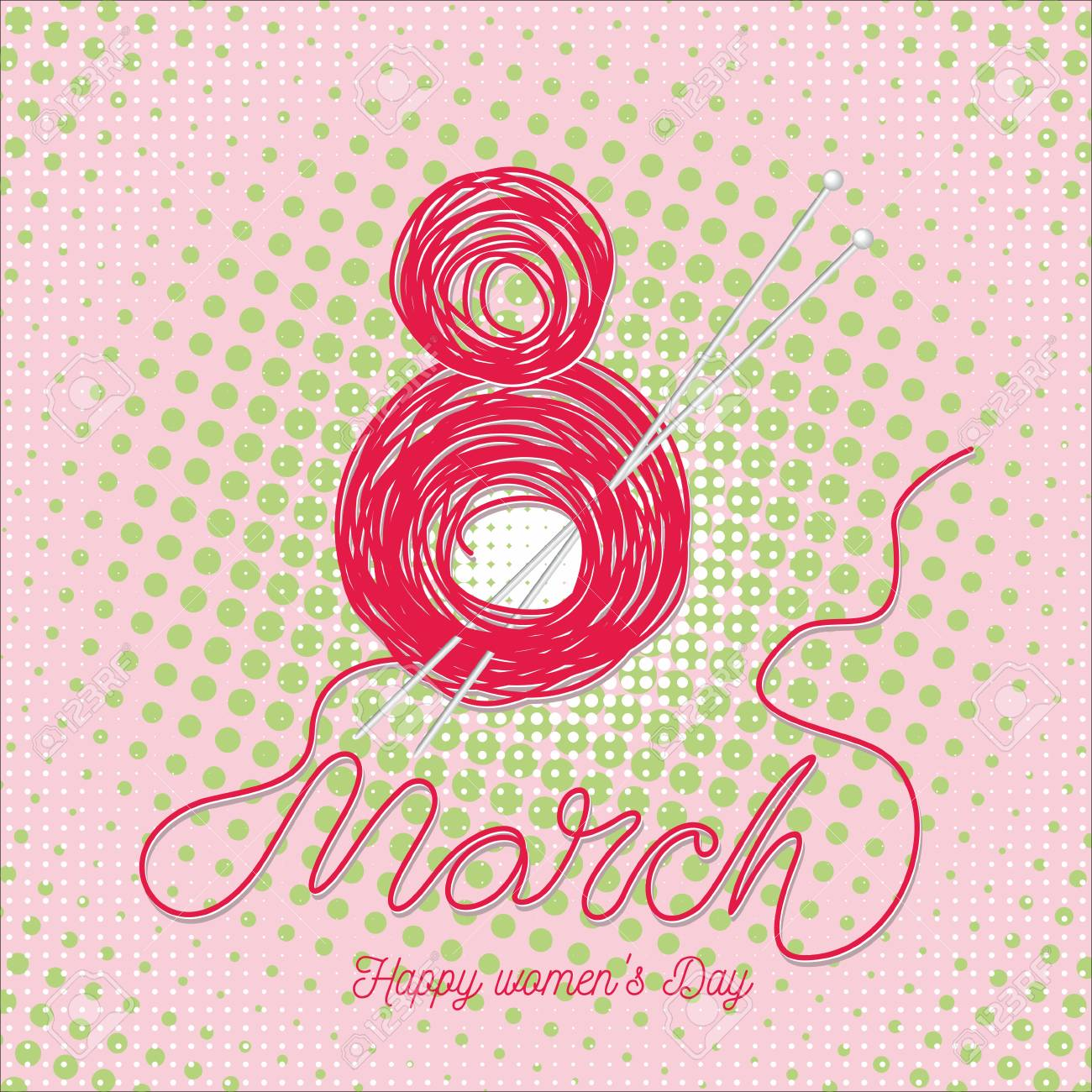 Greeting Cards For International Womens Day Eight March Usable