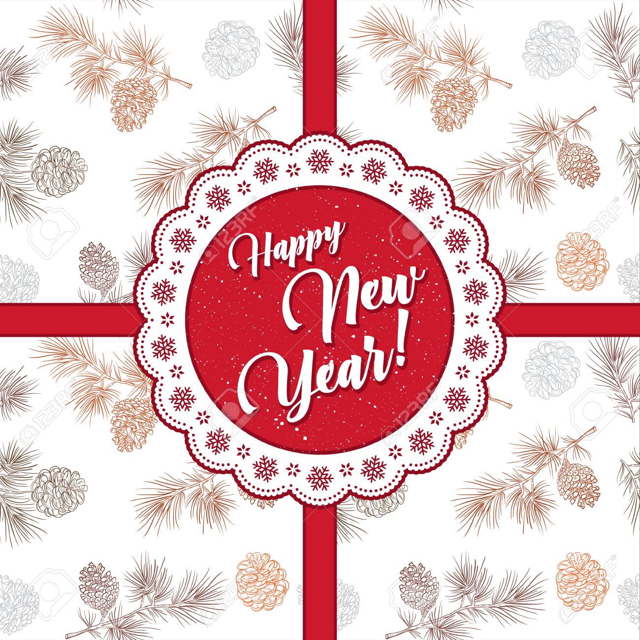 Merry Christmas And New Year Greeting Card Greeting Phrases