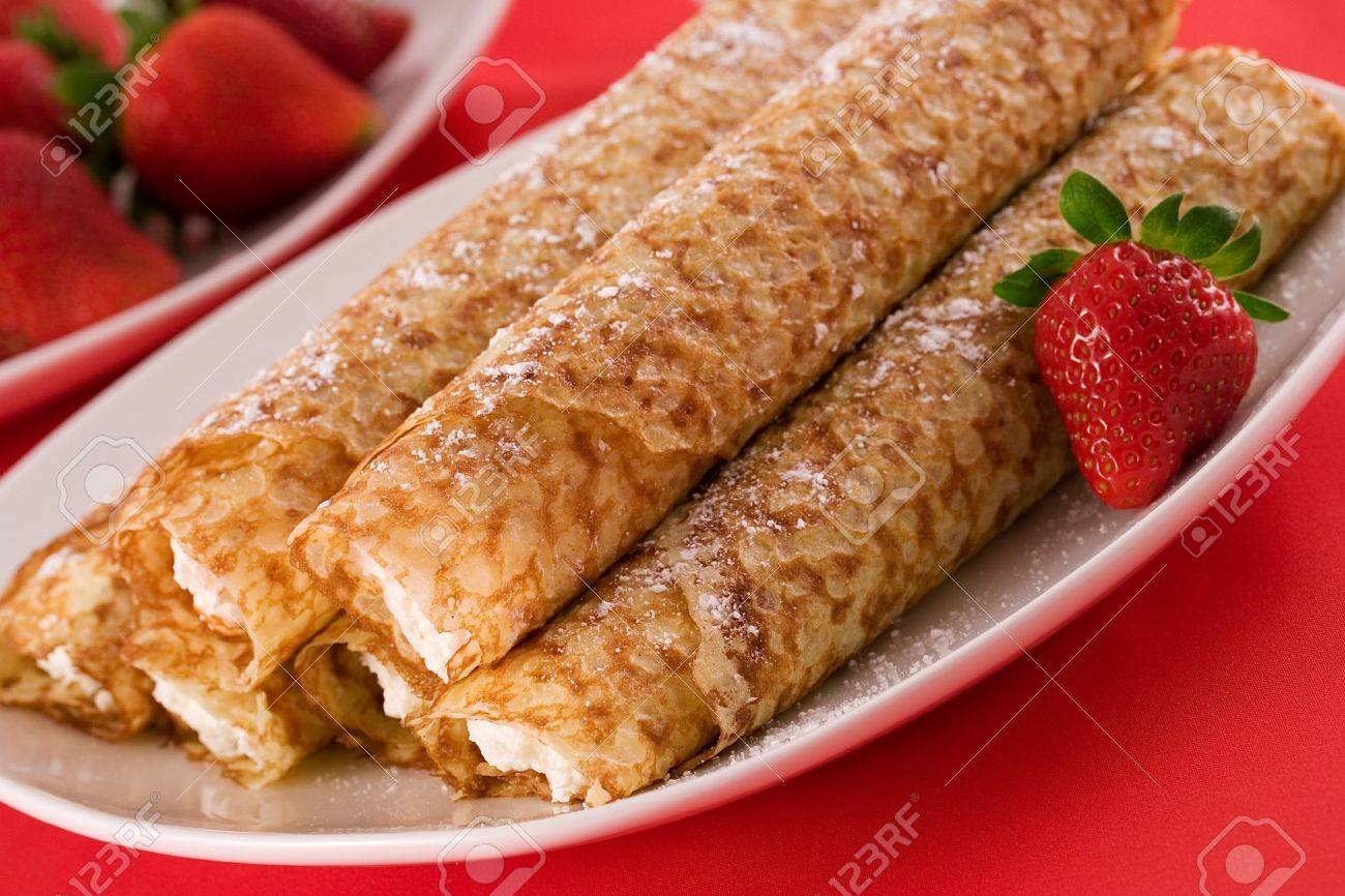Crepes Filled With Whipped