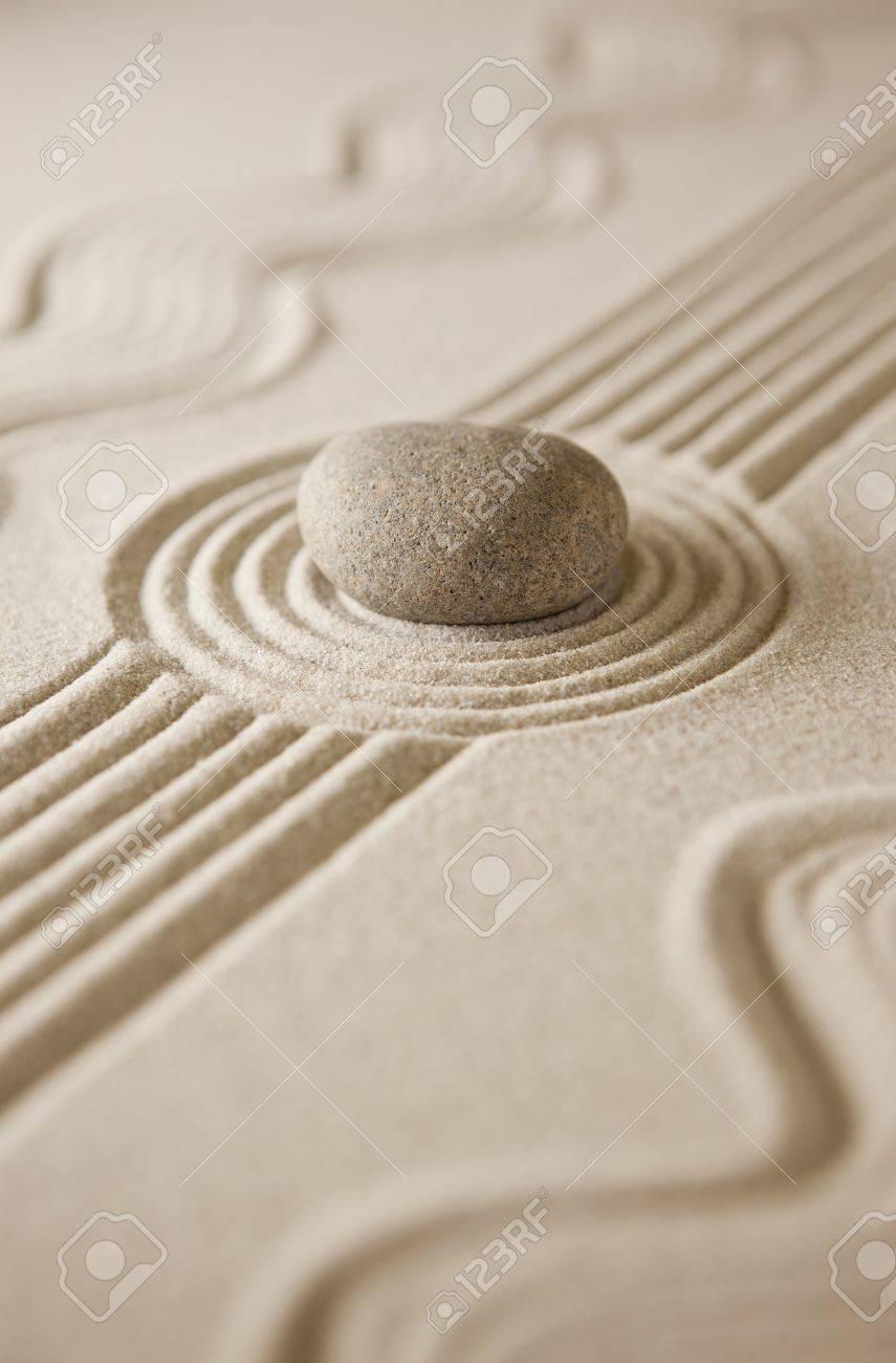 Close-up of a miniature zen garden - 10692860