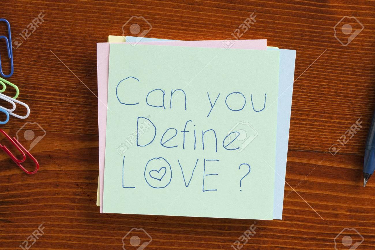 Vue de dessus vous pouvez définir l amour note écrite sur le