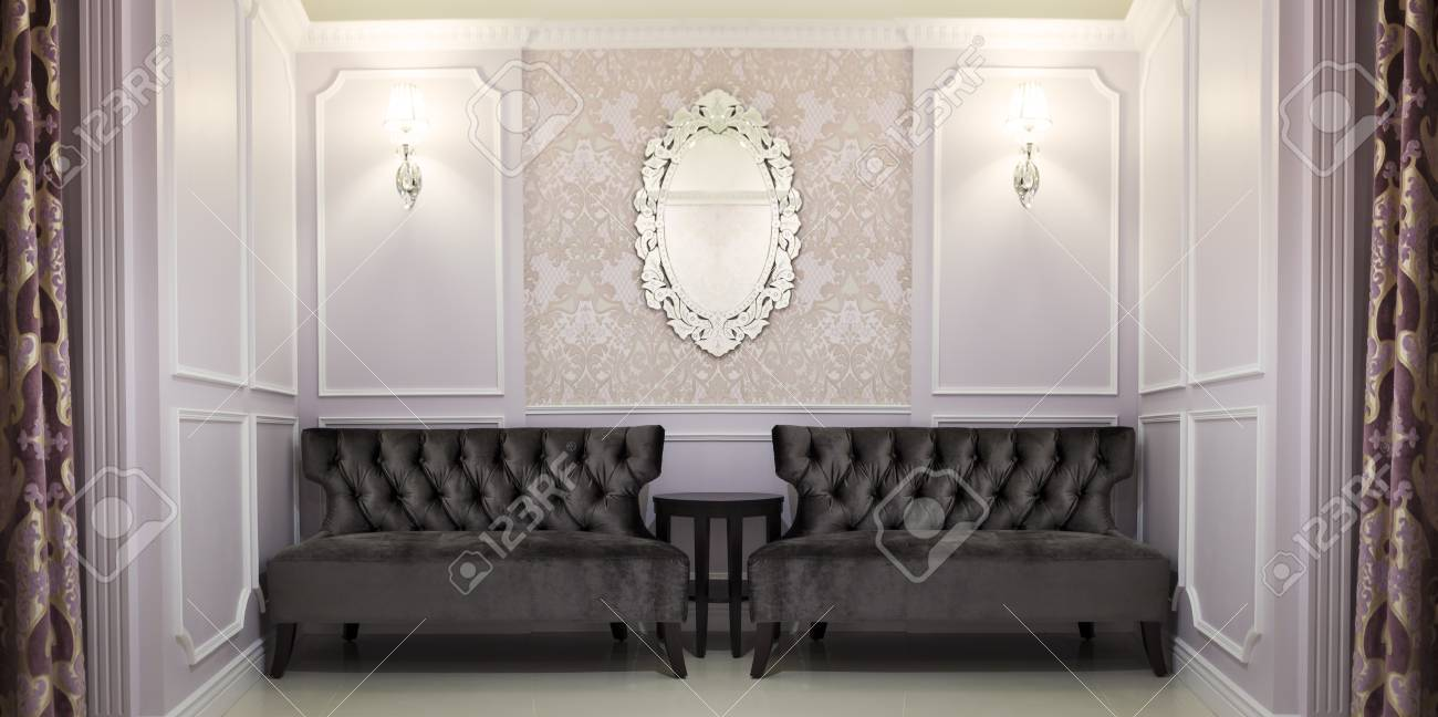 Canapé Classique De Style Anglais Et De L\'intérieur De La Maison ...