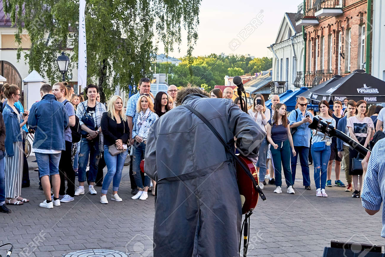 June 1, 2019 Minsk Belarus Festivities in the city on the day of Swedish culture - 158645840