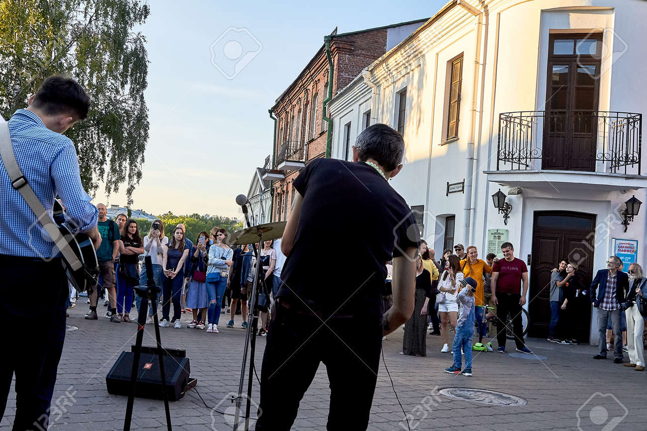June 1, 2019 Minsk Belarus Festivities in the city on the day of Swedish culture - 158645844