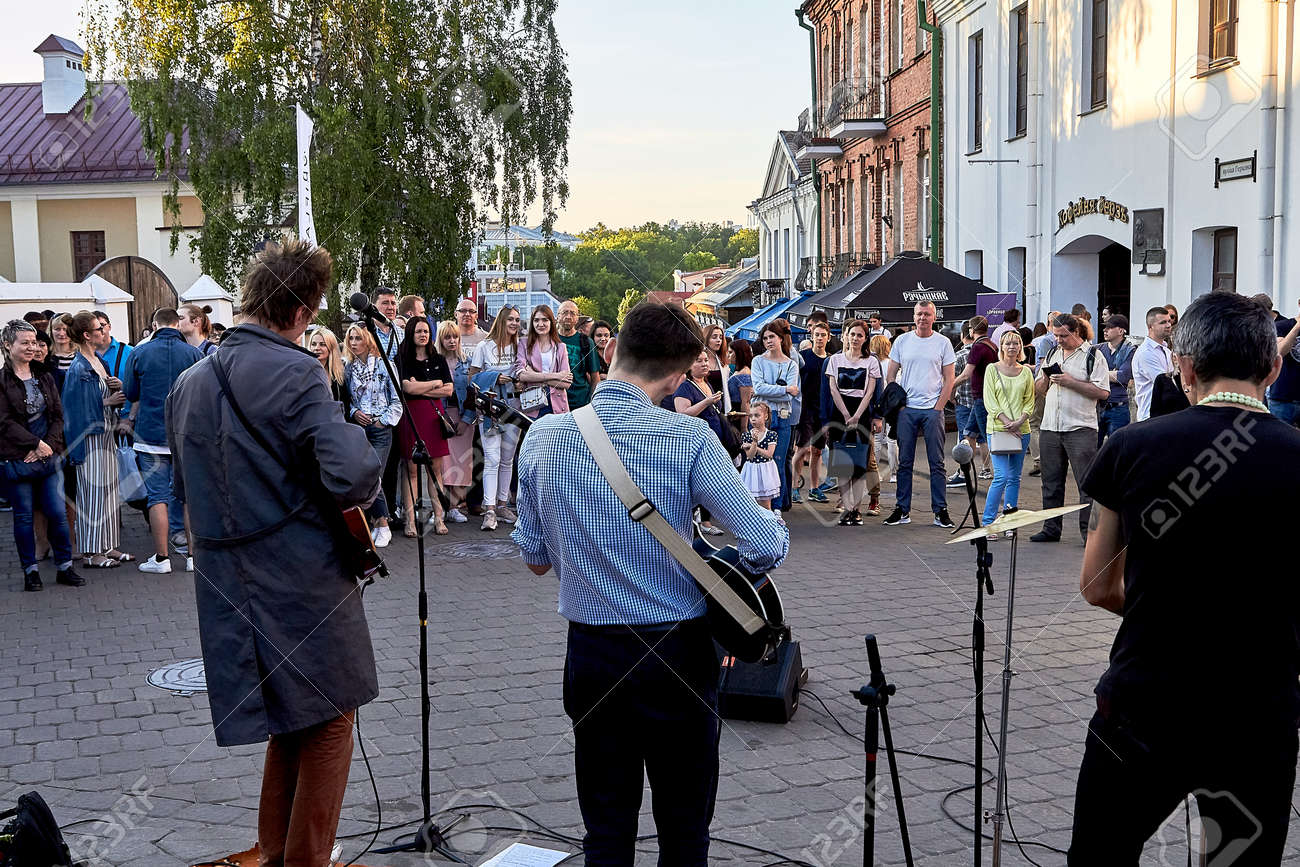June 1, 2019 Minsk Belarus Festivities in the city on the day of Swedish culture - 158645841