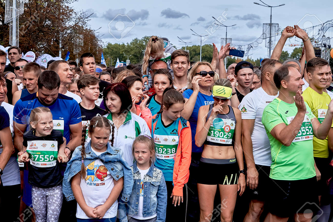 Half Marathon Minsk 2019 Running in the city - 160108615