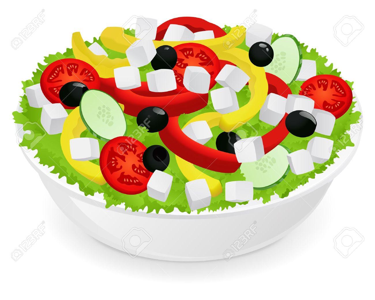 Vegetable salad Stock Vector - 12489495