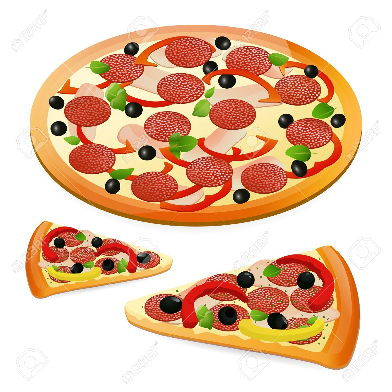 Pizza. Vector illustration Stock Vector - 12489403