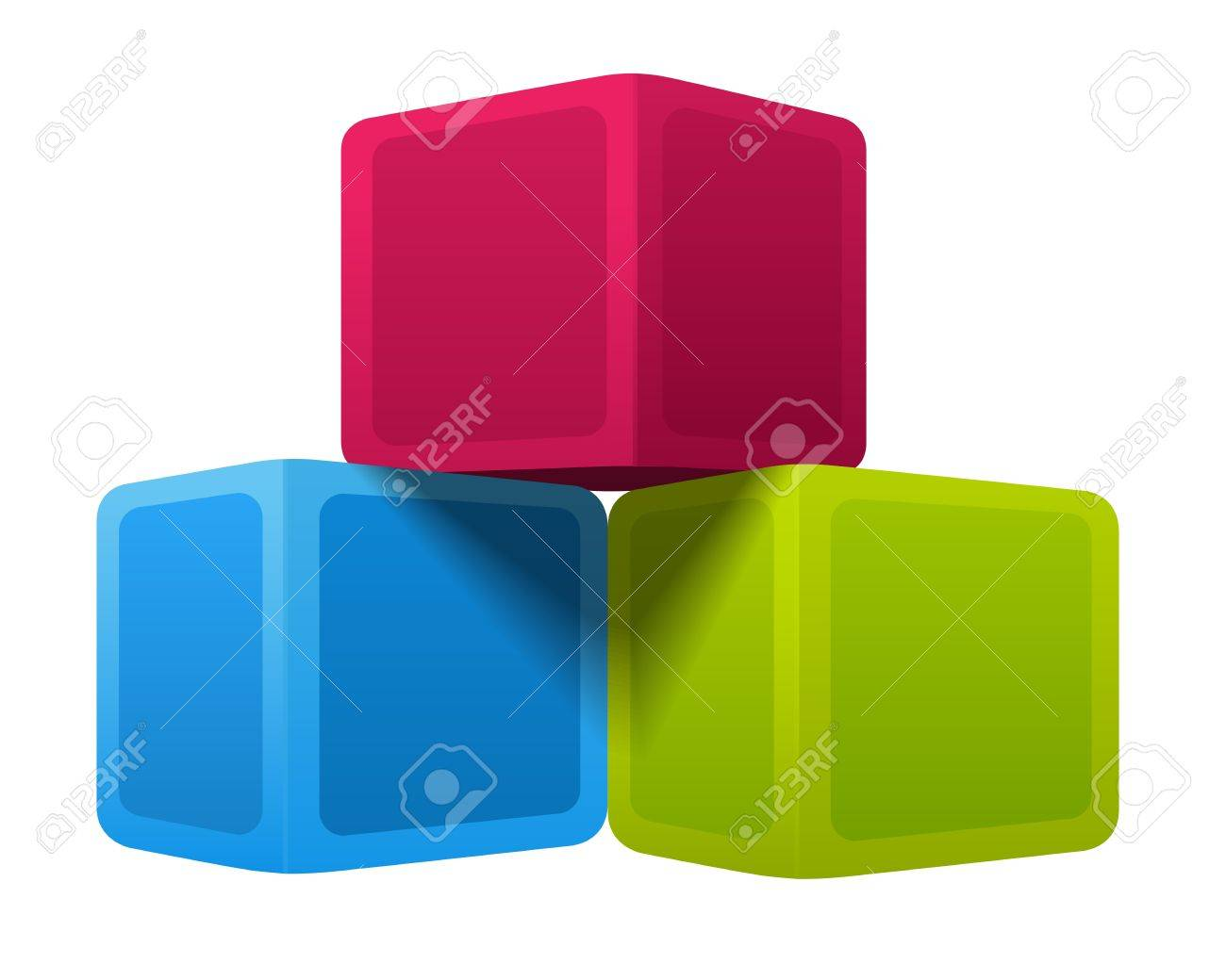 Colorful cubes. Vector illustration on white background Stock Vector - 12747762