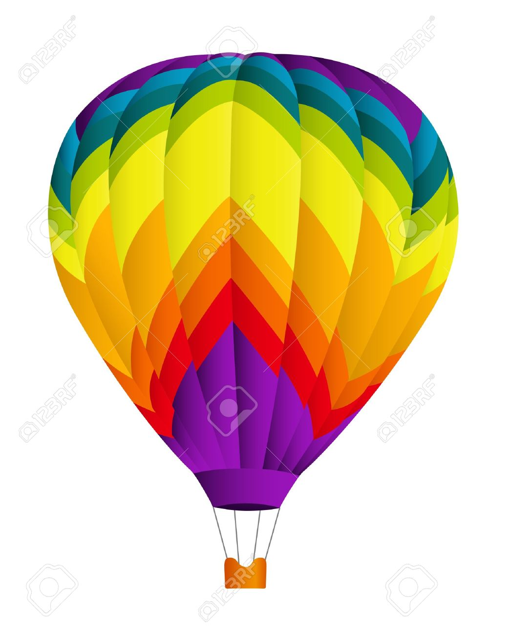 Hot Air Balloon Vector Illustration On White Background Royalty Free