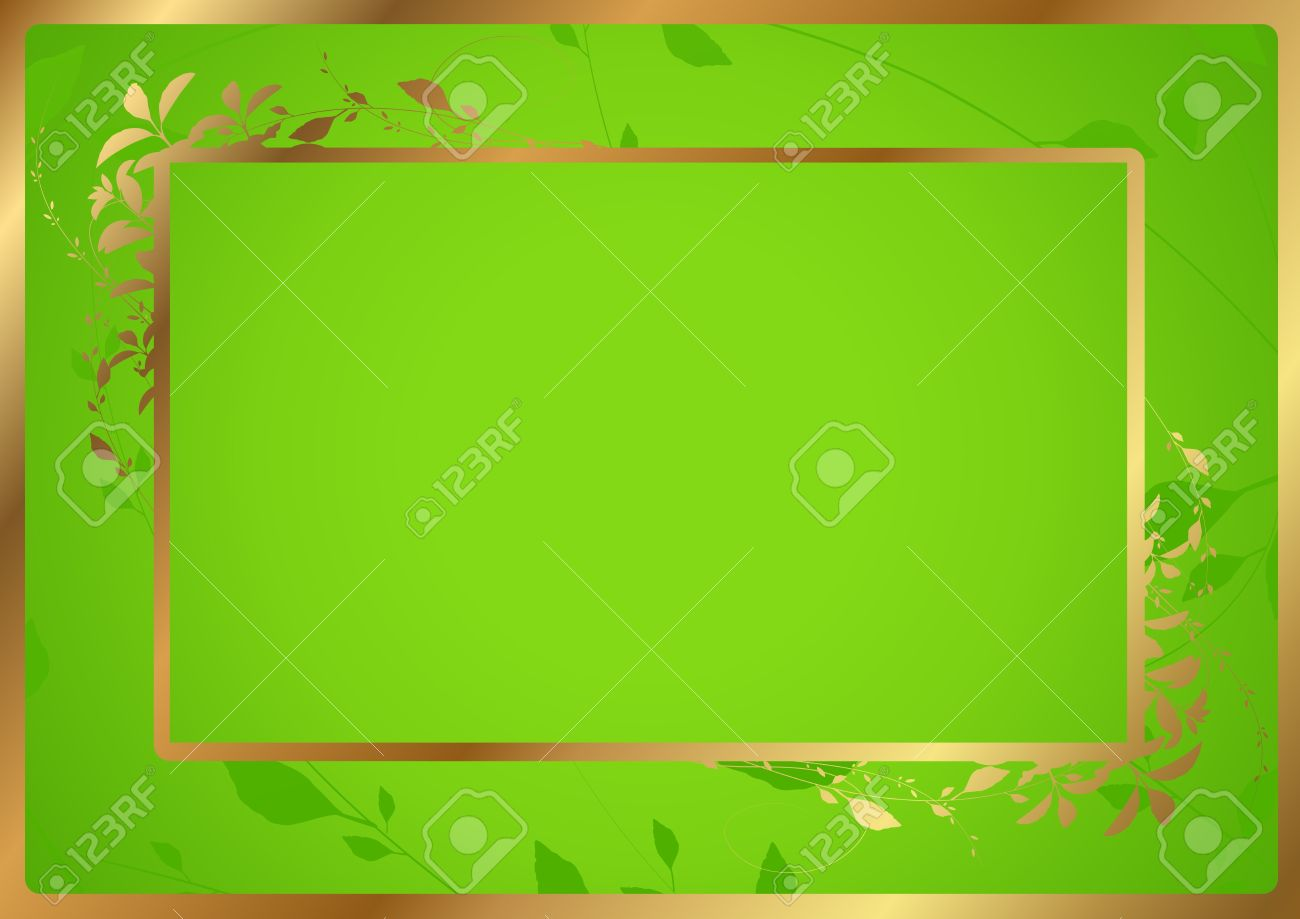 Green certificate of completion template with golden border green certificate of completion template with golden border vector illustration of diploma stock vector 12963390 yadclub Choice Image