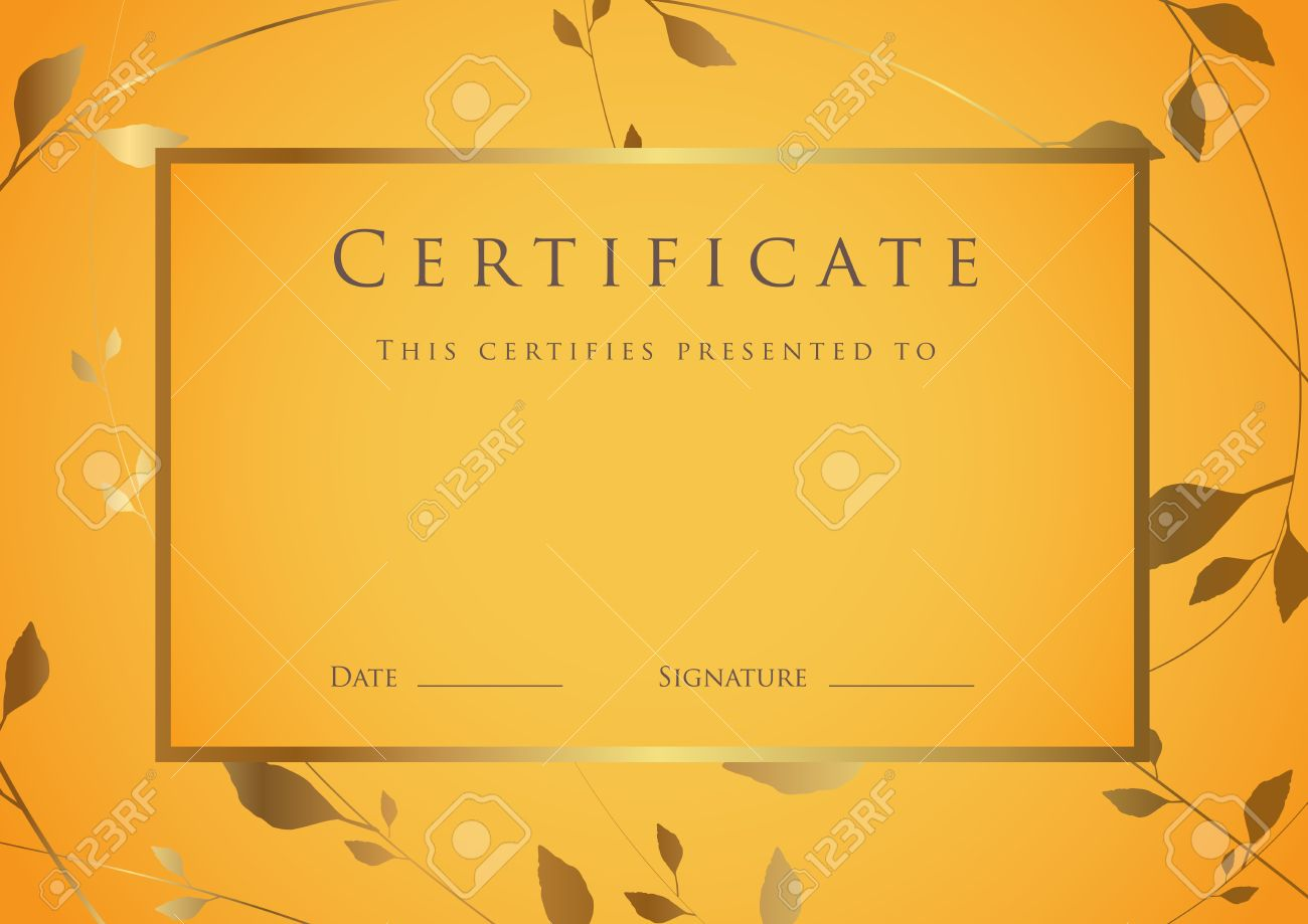 Certificate Of Completion Template. Diploma Royalty Free Cliparts ...