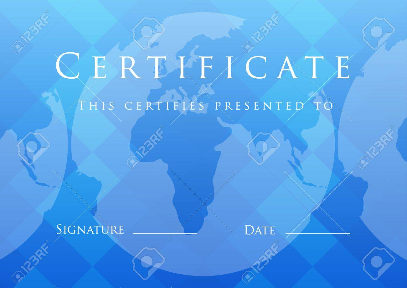 Certificate of completion template. Stock Vector - 14157441