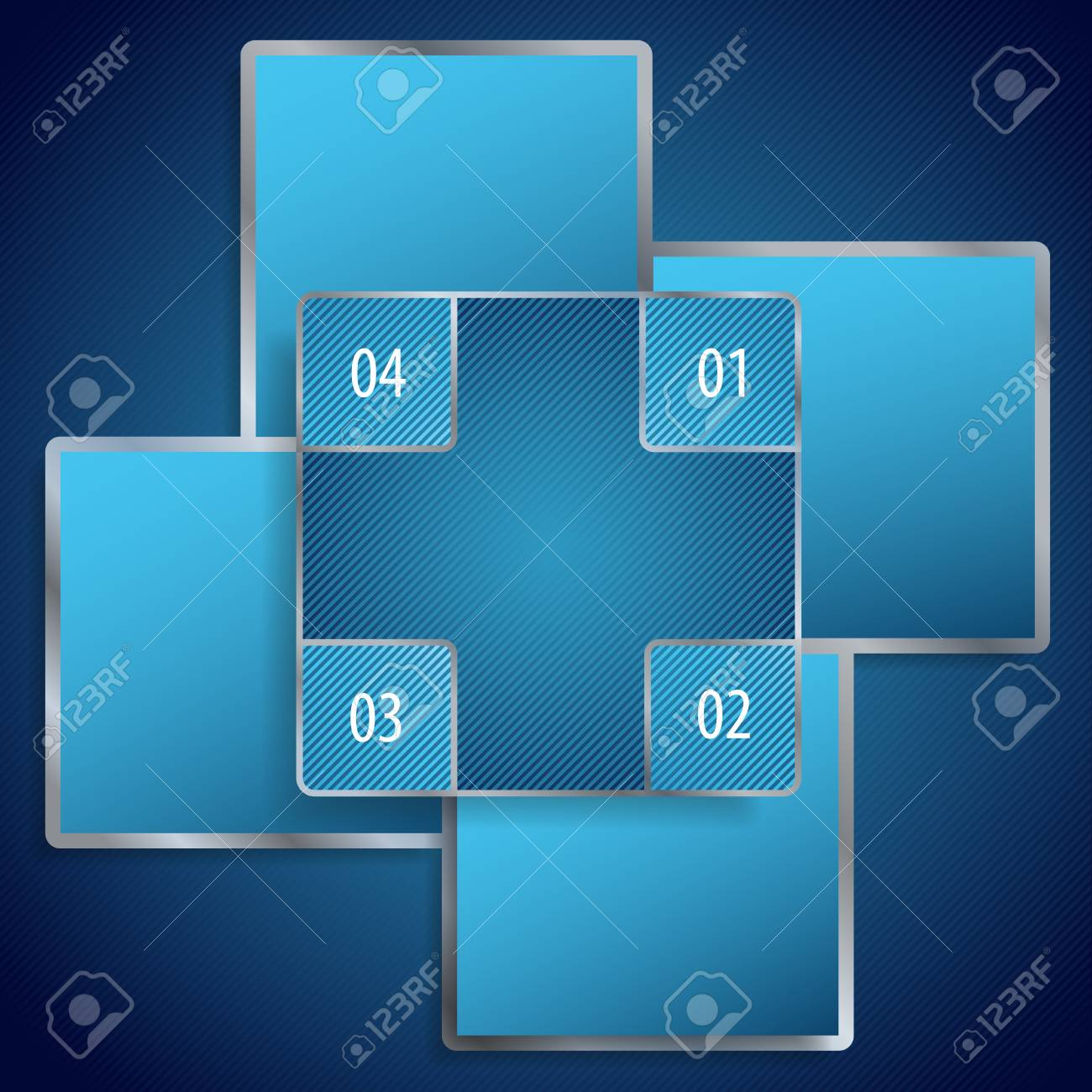 Conceptual vector illustration of blue banners with place for your text  Usable for different business design Stock Vector - 16424582