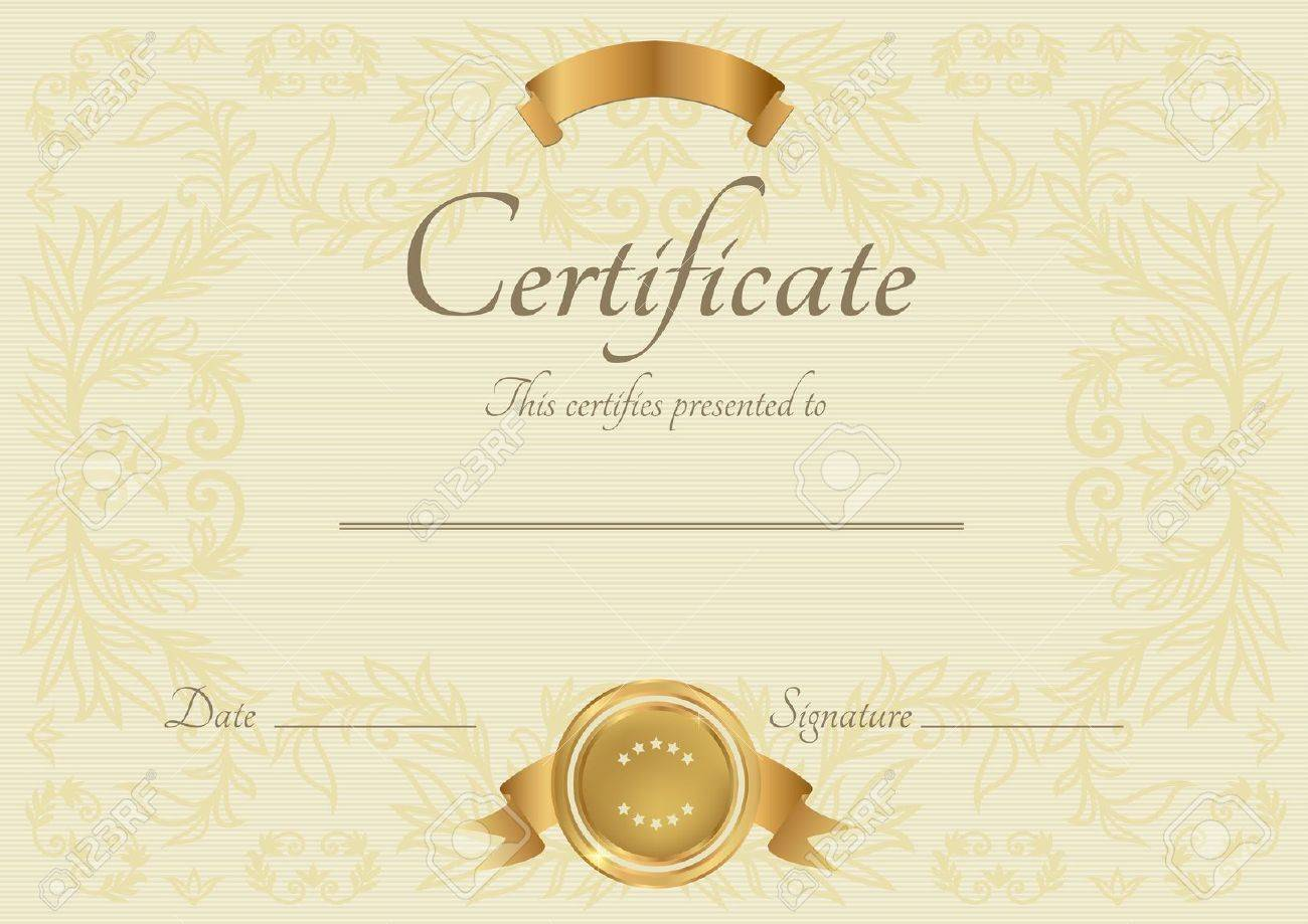 Doc500353 Template for Certificate of Completion Free – Template Certificate of Completion